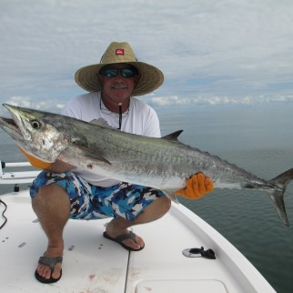 Capt Kurt from Captain Rapps Charters with a nice offshore King Mackerel