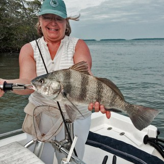 Dorothy Marcaux with a Black Drum on a Captatain Rapps Charter