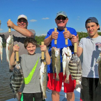 The Daly family caught a nice variety on a Captain Rapps Charter