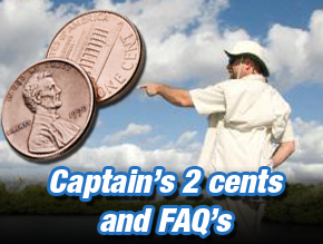Captains 2 cents and FAQs