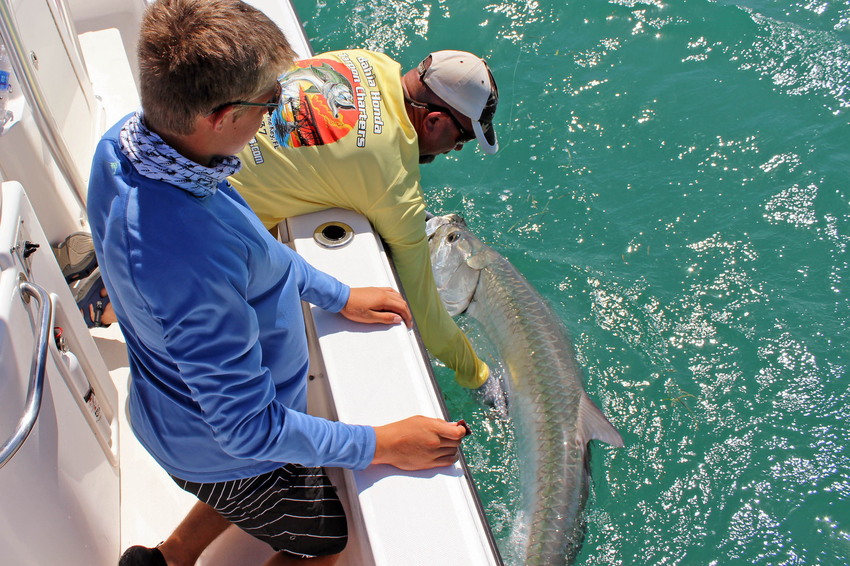 Florida keys tarpon fishing charters captain kevin Grubb Captain Pete Rapps
