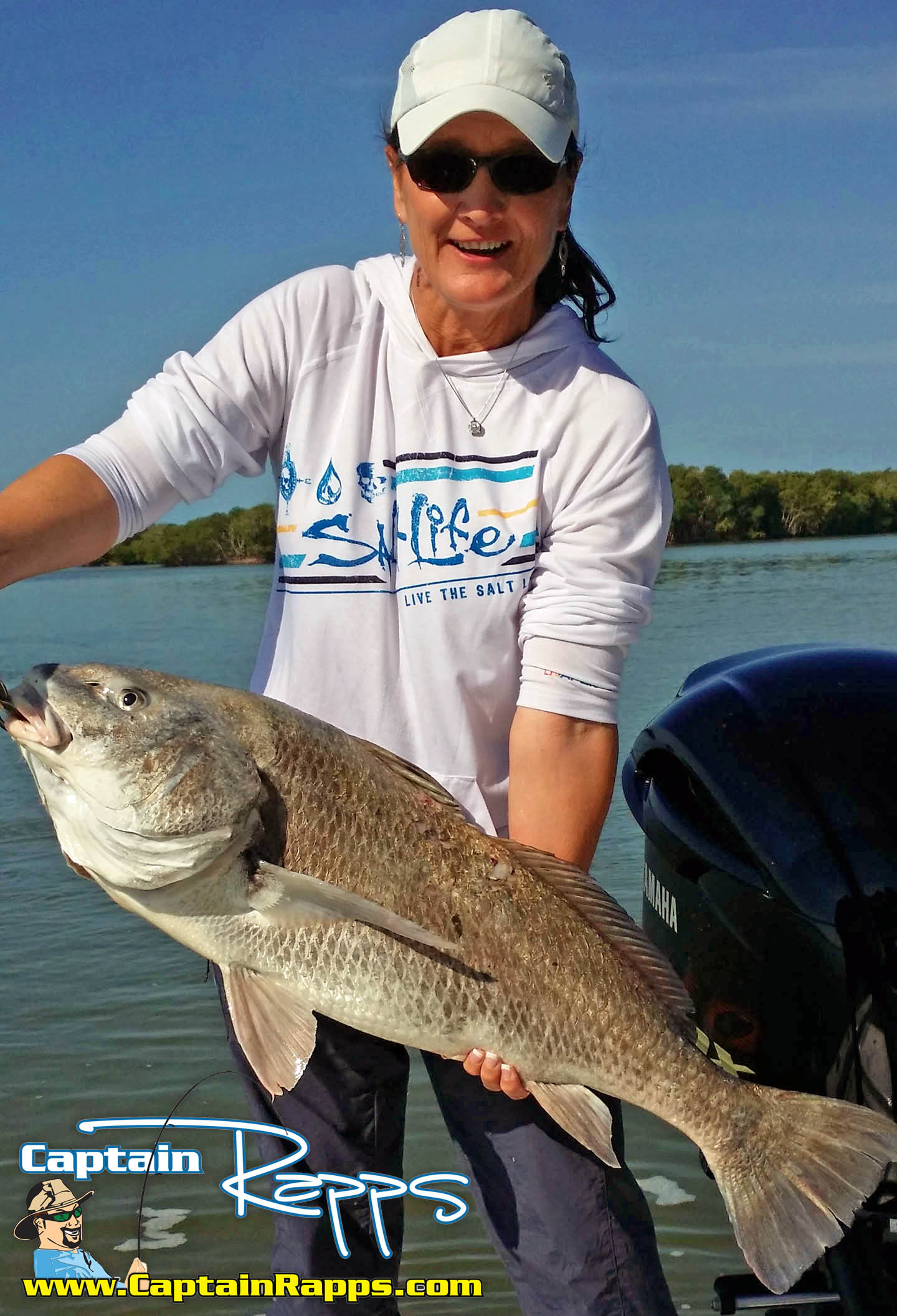 Roxie with a drum everglades city chokoloskee fishing charters