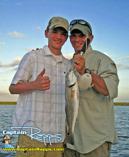 John and JT on a Captain Rapps everglades city fishing charter