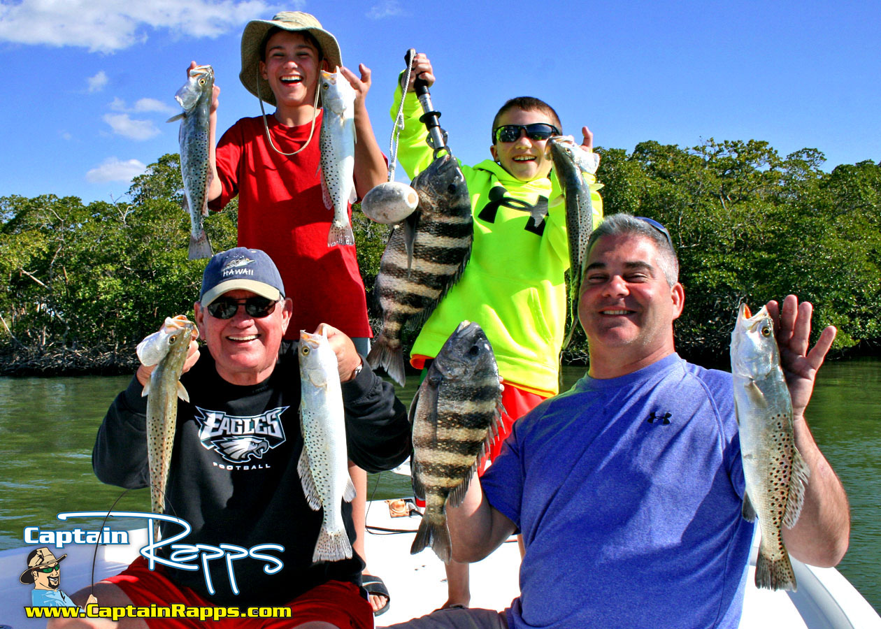 FAMILY FRIENDLY 10,000 Islands, Everglades City, Chokoloskee & Goodland Fishing Charters