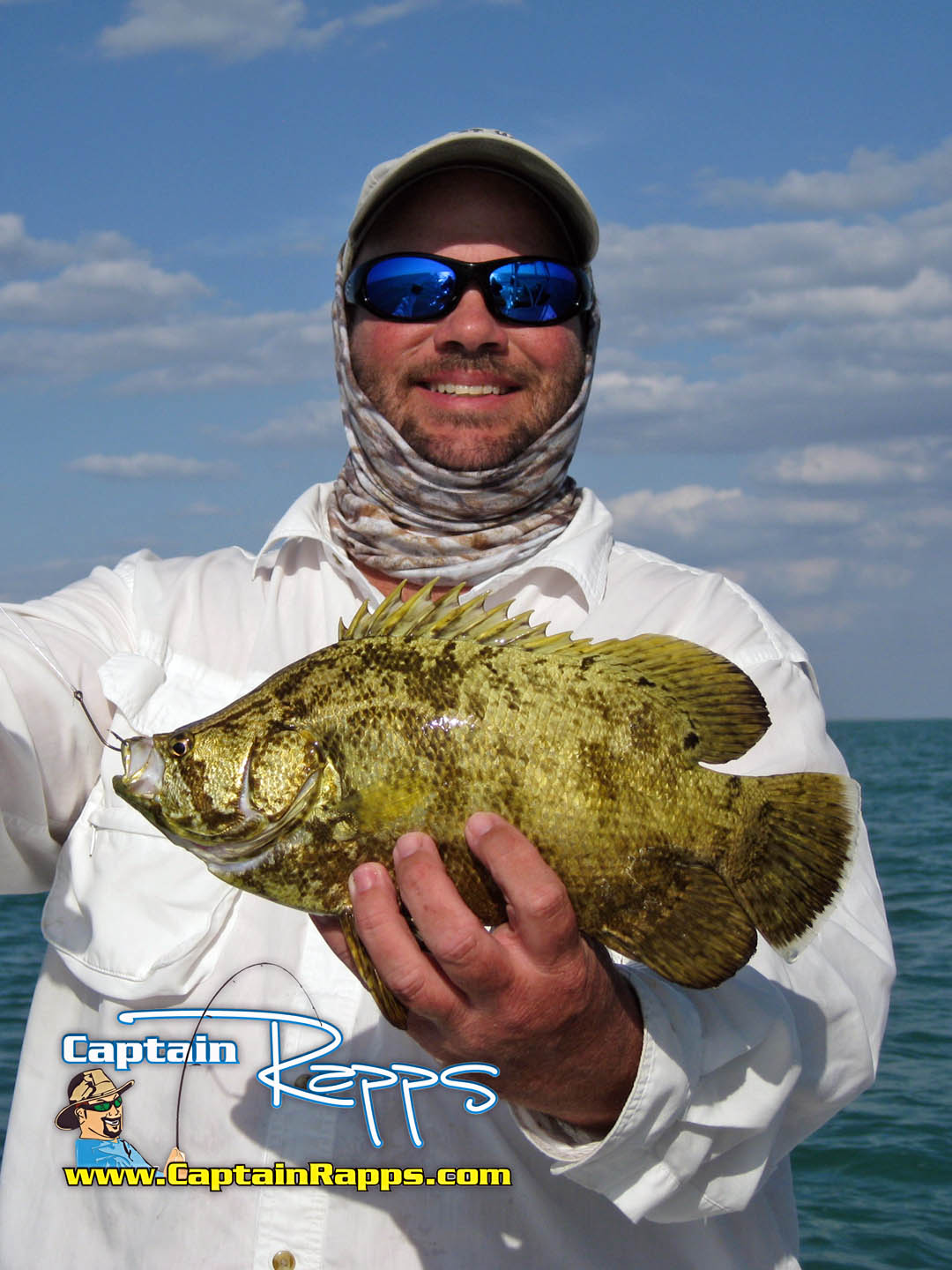 Gary tripletail everglades city fishing charter chokoloskee